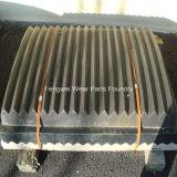 Hohe Mangan-Abnutzung zerteilt Kiefer-Brecheranlage-Platten
