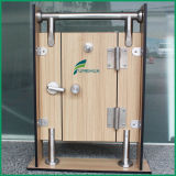 Blocage de porte de partition de toilette d'acier inoxydable
