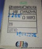 Resistores de película del carbón del ohmio 1k de CFR1/4W el 5%