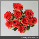 Sunwing Real Touch Red Artificial Rosa Flowers para Wedding Decoration