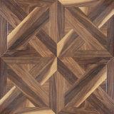 Suelo de madera afilado encerado teca del laminado de la madera de la textura de la viruta del roble blanco