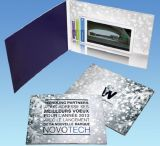 tarjeta video de la invitación de la boda del folleto de la promoción del asunto del librete del saludo 7inch (VC-070)