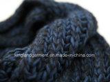 Шарф шеи голубой черноты акриловой зимы способа теплый Unisex связанный