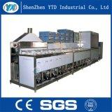 Lavadora de tipo continuo industrial de la máquina de la limpieza ultrasónica