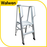 高品質のEn131標準のアルミニウムステッププラットホームの梯子