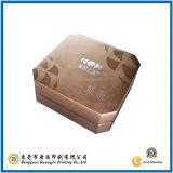 Caixa de embalagem de papel redonda da listra preto e branco (GJ-Box060)