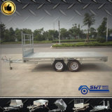 Heavy Transport Tandem Axles Flatbed Full Trailers avec Frein