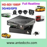 Sistema de Vigilancia de 4 canales completa 1080P bus con 4 cámaras para todos los vehículos