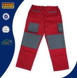 Colore rosso grigio pantaloni durevoli del lavoro del carico degli uomini della mutanda resistente del lavoro del trivello del cotone da 300 GSM