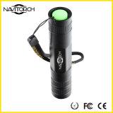 小型クリー族5W 260lm LEDの懐中電燈3のモードのトーチの再充電可能で軽いランプ(NK-638)