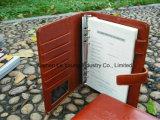 Het Schrijven van het leer A4 Agenda, de Omslag van het Dossier van de Houder van het Document