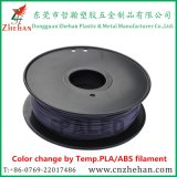 Couleur pourpre Changement de couleur rose par haute température PLA impression Filament pour imprimante 3D