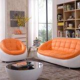 Sofá de couro creativo redondo ocasional 123