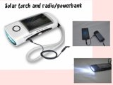 LED solar Torch Flashlight con FM Radio y Cell Phone Charger para MP3 MP4 Lht001-4