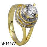 Hotsale 925 Steling silberner Mikroeinstellungs-Ring mit grossem Zircon.