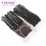 Großhandelspreis-Jungfrau-brasilianisches lockiges Haar-Schliessen