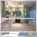حجارة لطيفة طبيعيّة أبيض رخاميّ جدار/[فلوور تيل] لأنّ غرفة حمّام يحيط