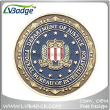 Metallherausforderungs-Münze mit Firmenzeichen des Abnehmer-3D