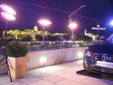 Calentadores eléctricos directos e inmediatos para la demostración auto al aire libre