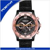 Los hombres forman a reloj mecánico de múltiples funciones la venda Psd-2903 del cuero genuino