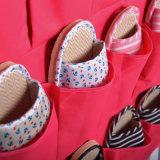 Venta caliente no tejido colgante de almacenamiento de la pared de bolsa para los zapatos