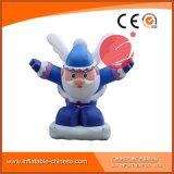Mascotte gonfiabile C1-207 del fumetto del Babbo Natale di colore blu