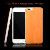 iPhone 6 s аргументы за клетки задней стороны обложки мобильного телефона изготовленный на заказ конструкции пластичное TPU печати деревянной плюс, в случай iPhone 6 Apple