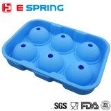 6 Hilfsmittel des Loch-Kugel-Eis-Würfel-Tellersegment-Silikon-Eis-Hersteller-DIY