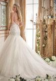 2016着のビーズのAラインの花嫁のウェディングドレス2874