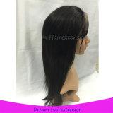 Парик шнурка волос девственницы новой конструкции естественный черный людской