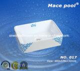 Bacia cerâmica quadrada de seis estilos para o mercado de Ásia (017)