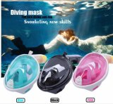 Projeto novo máscara do Snorkel da face cheia de um Gopro de 180 graus