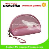 ハンドルが付いているゆで団子の形のゆとりPVC Stichingピンクの装飾的な袋