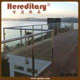Suelo - poste de cristal montado del pasamano del acero inoxidable 304 para la terraza (SJ-H915)
