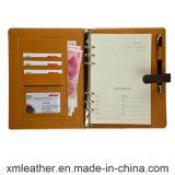 Libros de cuero del diario del cuaderno de la carpeta de anillo para la oficina