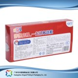 Billig gedruckter Ebene gepackter Falz-verpackenmedizin-kosmetischer Kasten (xc-pbn-002)