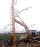Drenaje vertical plástico conductor mecha de drenaje del aparejo de instalación en el excavador