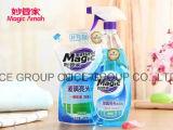 Líquido de limpeza de vidro mágico natural