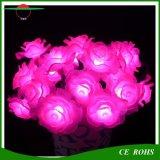 Света солнечных валов 50LEDs света 7m шнура цветка Rose света праздника солнечных декоративные делают свет водостотьким напольного рождества солнечный СИД розария Fairy
