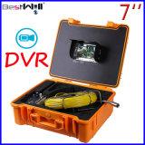 """7 """"デジタルLCDスクリーンが付いている防水下水管の点検カメラCr110-7g及び20mから100mのガラス繊維ケーブルが付いているDVRのビデオ録画"""