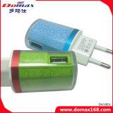 Carregador do curso do adaptador da parede do USB do dispositivo 2 do telefone móvel
