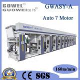 Impresora del rotograbado del color del motor 8 del sistema 7 del arco para BOPP, el PVC, el animal doméstico, el etc en 150m/Min
