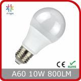 Ce RoHS del bulbo de 5W 7W 10W 2700k Lm/W>80 Ra>80 A60 LED