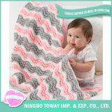 Couverture tricotée confortable d'enfants de filé de laines de qualité