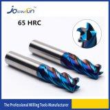 HRC 65 단단한 탄화물 4 플루트 CNC 기계 절단 도구