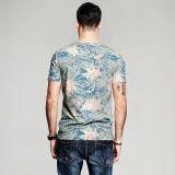 卸売人の円形の首のTシャツのための最新のデザインOEMの100%年の綿の夏のワイシャツ