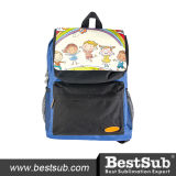 Мешок школы малышей (голубой с черным карманн)