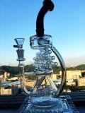 Neue borosilicat Pyrex Recycler Faberge Ei KLEKS Ölplattform-rauchendes Wasser-Glasrohr der Ankunfts-8 Misch