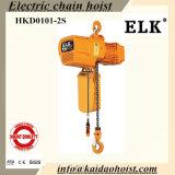 수동 트롤리 (HKDH0101S)를 가진 1ton 전기 체인 호이스트