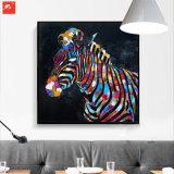 Pintura al óleo de la decoración de la cebra